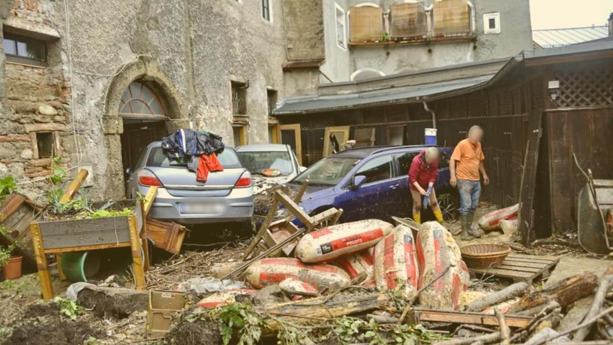 """Hallein nach der Flut: """"Zusammenhalt ist unvorstellbar, aber wir brauchen Hilfe"""""""
